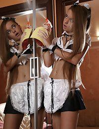 Sexy teen maid