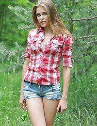 Extravagant woods babe
